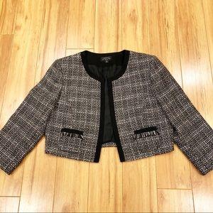 Tahari by Arthur Levine cropped blazer/jacket